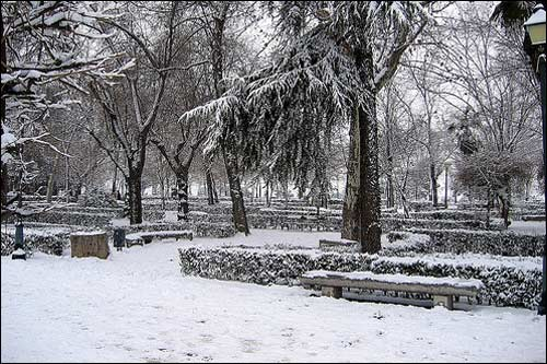 Холодная зима в Испании