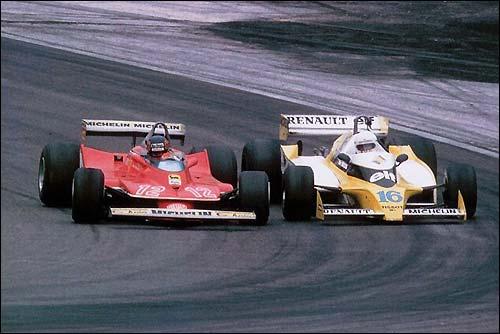 Борьба Жиля Вильнева и Рене Арну за второе место в Гран При Франции 1979 года