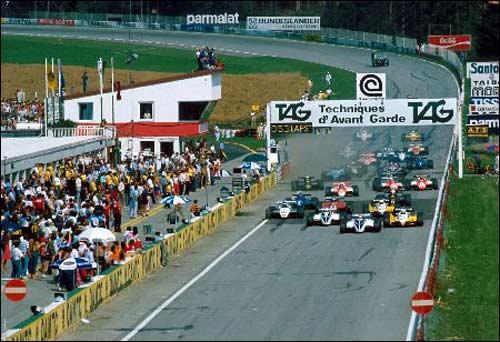 Старт Гран При Австрии 1982 года