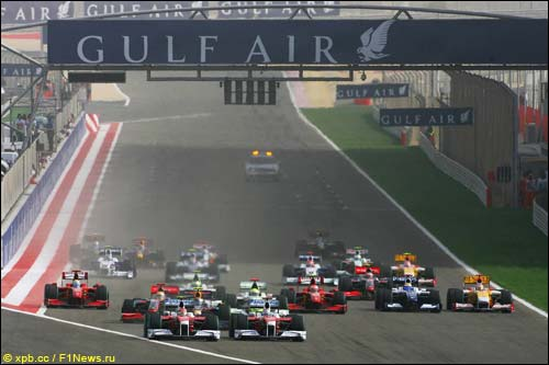 Старт Гран При Бахрейна'09
