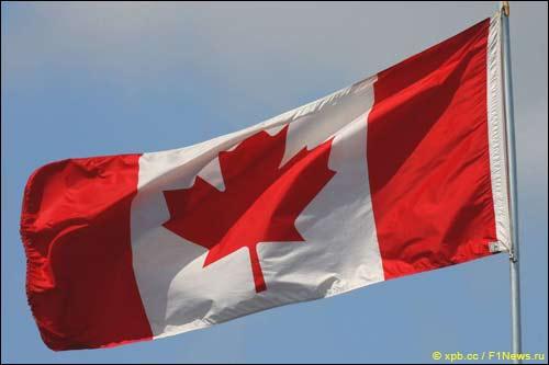 Флаг Канады на автодроме имени Жиля Вильнёва