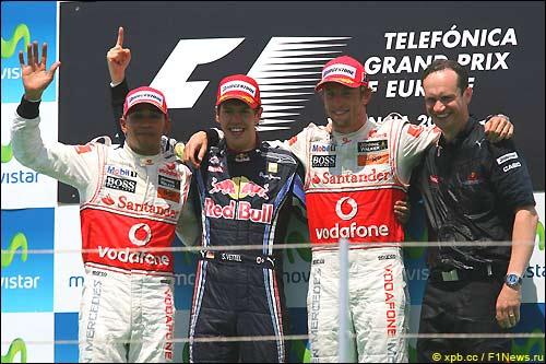Подиум Гран При Европы