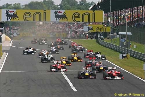 Старт Гран При Венгрии 2010
