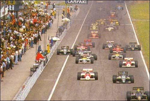 Старт Гран При Германии 1986 года
