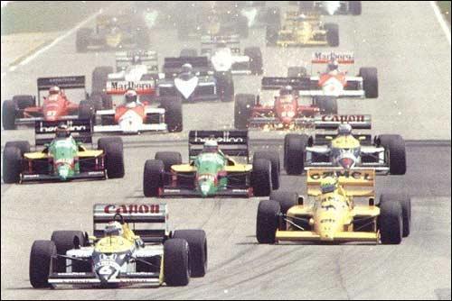 Старт Гран При Бразилии 1987 года