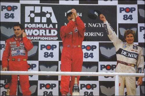 Призовой подиум Гран При Венгрии 1989 года