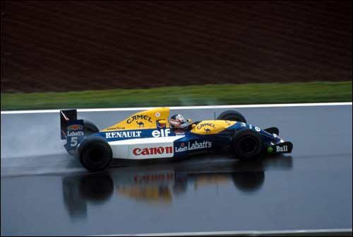 Победитель Гран При Испании 1992 года Найджел Мэнселл