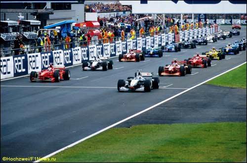 Старт Гран При Великобритании 1998 года