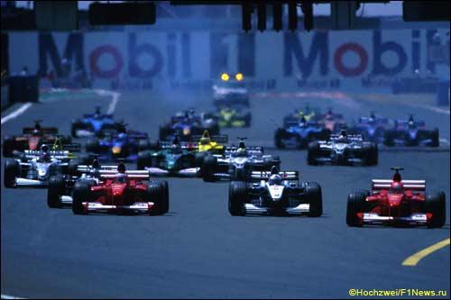Старт Гран При Франции 2000 года
