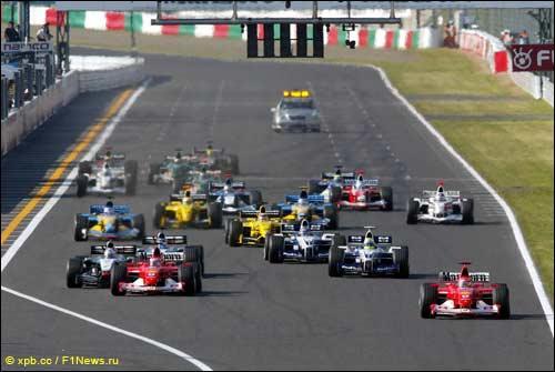 Старт Гран При Японии 2002 года