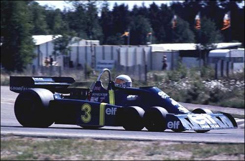 Шестиколесный Tyrrell P34. Гран При Швеции'76