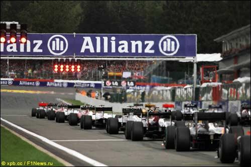 Стартовое поле Гран При Бельгии