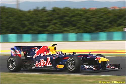 Red Bull RB6 в Венгрии