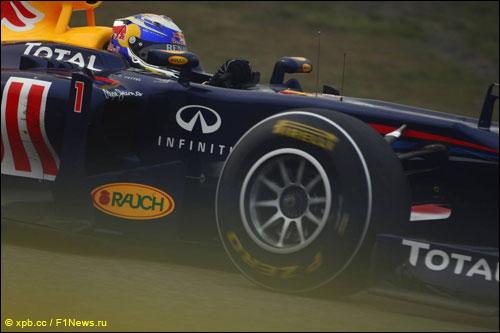 Себастьян Феттель на трассе Гран При Китая