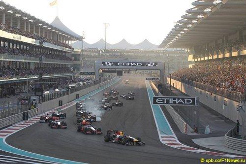 Старт Гран При Абу-Даби 2011