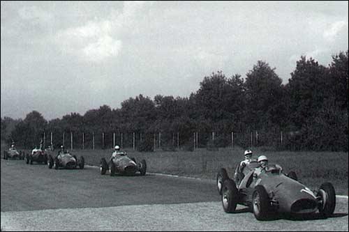 Борьба на трассе Гран При Италии 1952 года