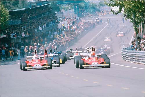 Старт Гран При Испании'75