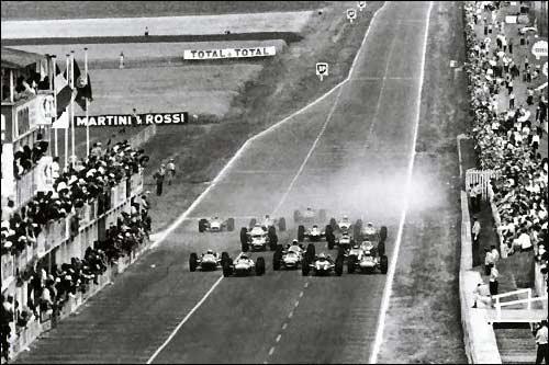 Старт Гран При Франции 1966 года