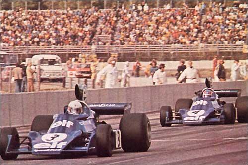 Триумфаторы Гран При Швеции 1974 года - пилоты Tyrrell Джоди Шектер и Патрик Депайе
