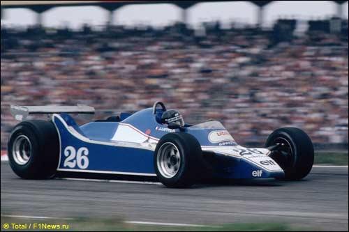 Победитель Гран При Германии 1980 года Жак Лаффит