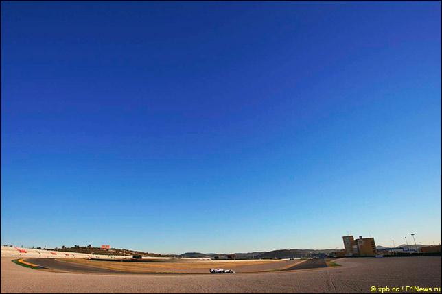 Тесты в Валенсии. Февраль 2011