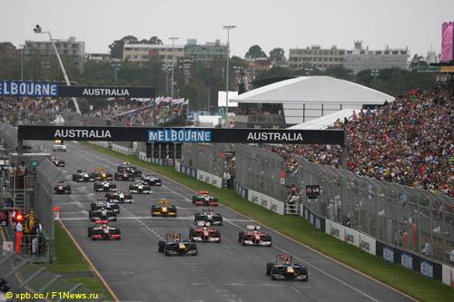 Старт Гран При Австралии 2010 года