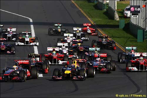 Старт Гран При Австралии, 2011 г.