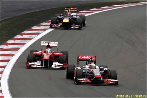 Тройка лидеров Гран При Германии