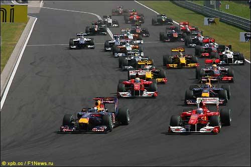 Старт Гран При Венгрии, 2010 год