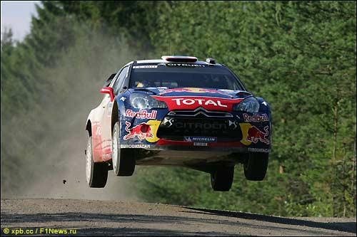 Себастьен Лёб на Rally Finland