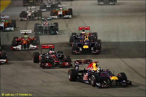 Старт Гран При Сингапура, 2011 год