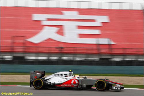 Льюис Хэмилтон на трассе Гран При Китая