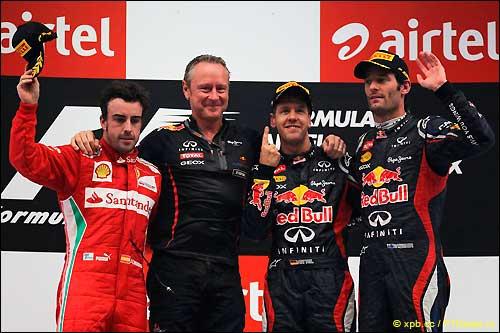 Подиум Гран При Индии