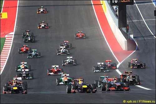 Старт Гран При США 2012