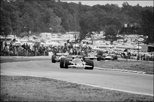 Эмерсон Фиттипальди на пути к победе в Гран При США 1970 года