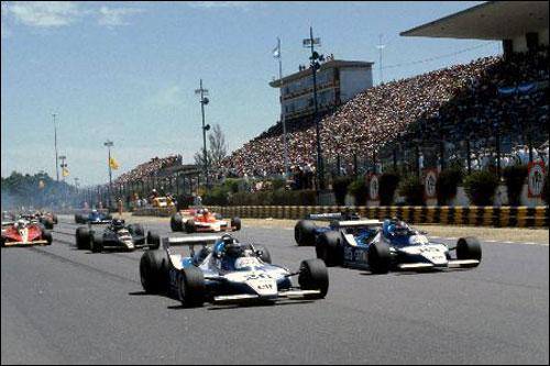 Пилоты Ligier лидируют на старте Гран При Аргентины 1979 года