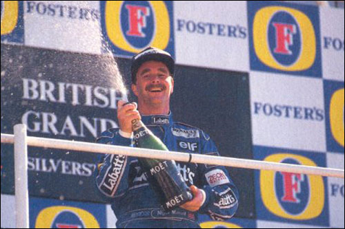 Победитель Гран При Великобритании 1991 года Найджел Мэнселл