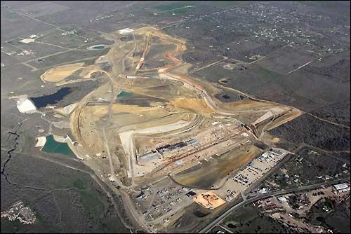 Территория строительства трассы Circuit of the Americas
