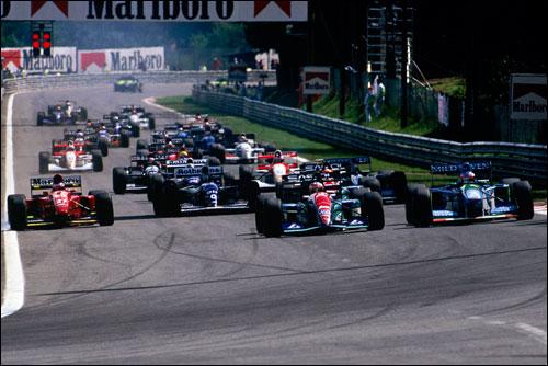 Старт Гран При Бельгии 1994 года
