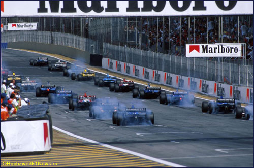 Старт Гран При Бразилии 1999 года