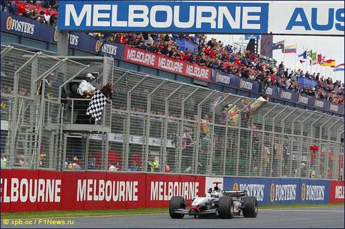 Победный финиш Дэвида Култхарда на Гран При Австралии 2003 года
