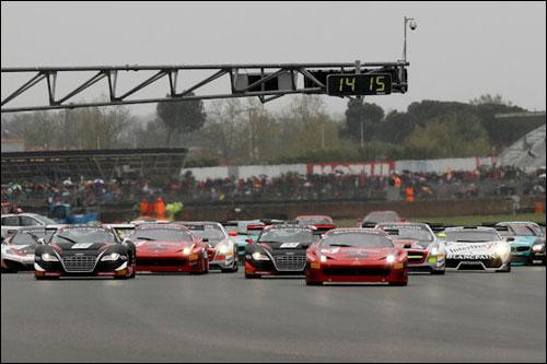Старт первой гонки GT1 в Ногаро