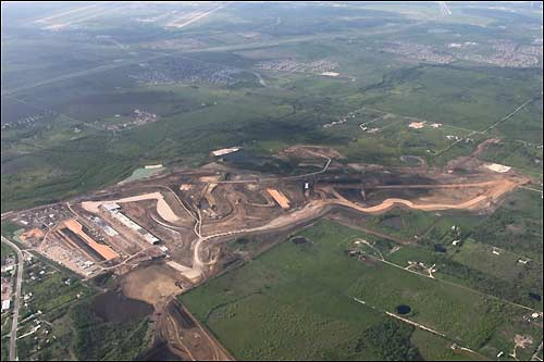 Вид на строящийся техасский автодром с воздуха (фото Circuit of the Amercas)