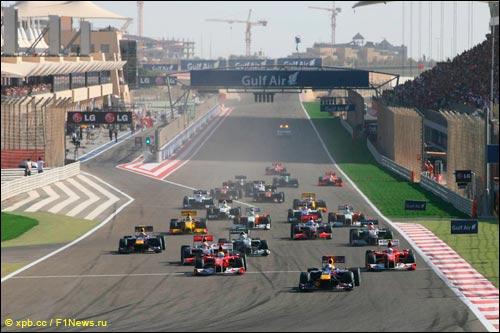 Старт Гран При Бахрейна 2010 года