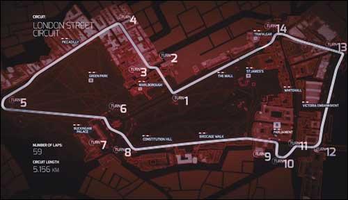 Конфигурация городской трассы в Лондоне