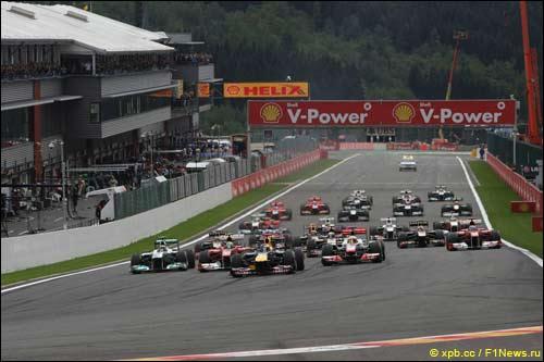 Старт Гран При Бельгии 2011 года