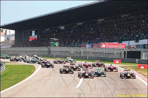 Старт Гран При Германии 2013