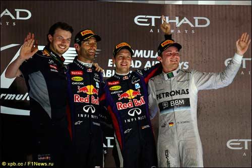 Подиум Гран При Абу-Даби