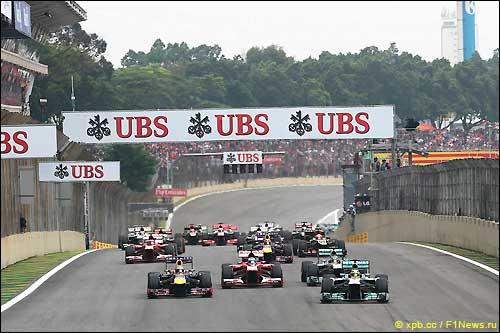 Старт Гран При Бразилии 2013