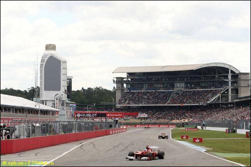 Фернандо Алонсо на Гран При Германии'12